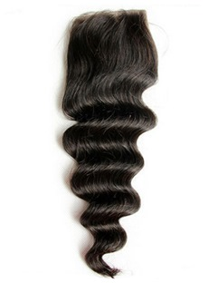 New Arrived Unprocessed Deep Wave Human Hair Lace Closures 5*5
