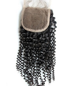 New Curly Unprocessed Human Hair Lace Closures 5*5