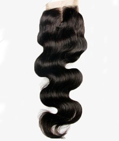Free Part & Middle Part Human Hair Body Wave Textures Swiss Lace Top Closure 5*5