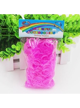 Top Quality 600 Colourful Luminous Rainbow Loom Rubber Bands Bracelet