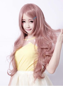 Synthetic Hair Cosplay Wig Long Wavy Hairstyle