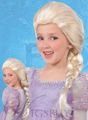 Frozen Elsa Braided Synthetic Hair Kid's Costume Wig