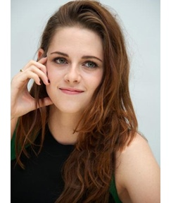 Kristen Stewart Long Natural Wave Hairstyle Human Hair Lace Front Wigs 18 Inches