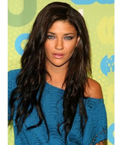 Jessica Szohr Natural Long Loose Wave Human Hair Lace Front Wigs 22 Inches