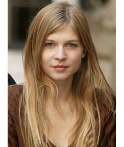 Clémence Poésy Long Straight Human Hair Lace Front Wigs 22 Inches