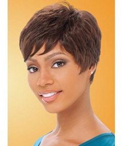 Gorgeous Celebrity Hairstyle Short Straight 100% Human Hair Full Lace Wig 6 Inches