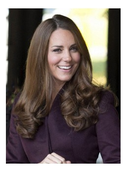 Gorgeous Princess Kate Hairstyle Long Natural Wave Brown Hair Real Human Hair Lace Front Wig 18 Inches
