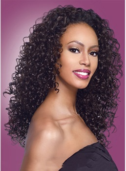 Top Quality Celebrity Hairstyle Long Curly Black Hair Density 150% Remy Hair Lace Front Wig 22 Inches