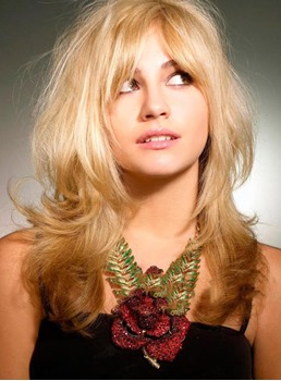 Sweet Celebrity Hairstyle Pixie Lott Long Natural Wave Blonde Wig Full Lace Remy Hair 16 Inches