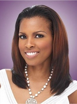 Fantastic Celebrity Hairstyle Medium Straight Mixed-colored Remy Hair Lace Front Wig 14 Inches