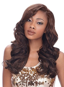 Charming Celebrity Hairstyle Long Body Wave Brown Hair 20 Inches 100% Human Hair Lace Wig