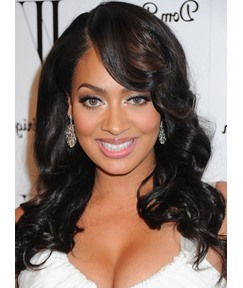 Custom African American Hairstyle 20 inches SyntheticLace Front Wigs