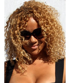 Attractive Classical Middle Curly Lace Front Wigs for Black Women 14 Inches