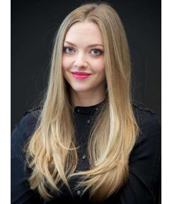 Amanda Seyfried Long Straight Human Hair Lace Front Wigs 20 Inches