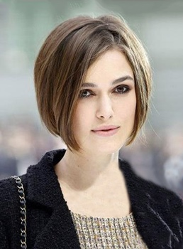 Elegant Short Natural Straight Brown Hair Remy Human Hair Lace Front Wig 8 Inches