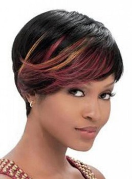 Fashionable Celebrity Hair Rihanna Short Straight Mixed-colored 100% Human Hair 8 Inches