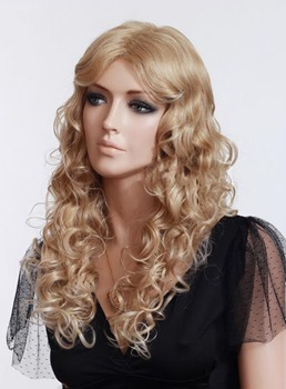 High Quality Celebrity Wig Rihanna's Hairstyle Long Curly Blonde hair Lace Front wig Remy Human Hair 22 Inches