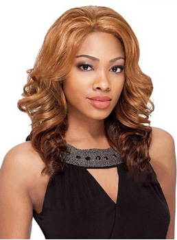 Celebrity Hairstyle Beyonce Long Body Wave 100% Human Hair Lace Front Wig 16 Inches