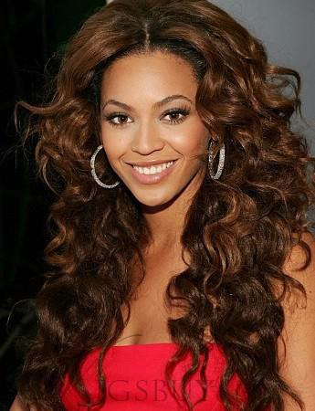 Attractive Classical Long Lace Front Wigs 100% Human Hair for Black Woman 26 Inches