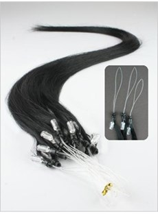 Micro Loop Ring Hair Extensions (Jet Black)