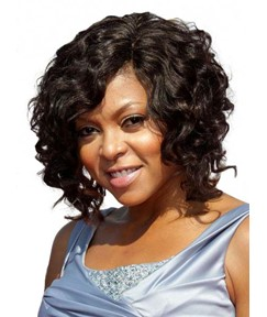 Taraji P Henson Short Curly Lace Front Human Hair Wigs 12 Inches