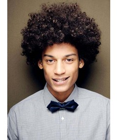 New Arrival Men's Short Curly Lace Front Human Hair Wig