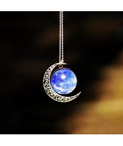 Fancy Starry Sky Vintage Style Necklace for Women