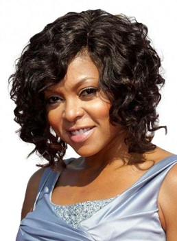 Fascinating Short Curly Black Lace Front Human Hair Wig 12 Inches