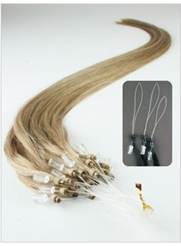 Micro Loop Ring Hair Extensions Human Hair(Ash Blonde)