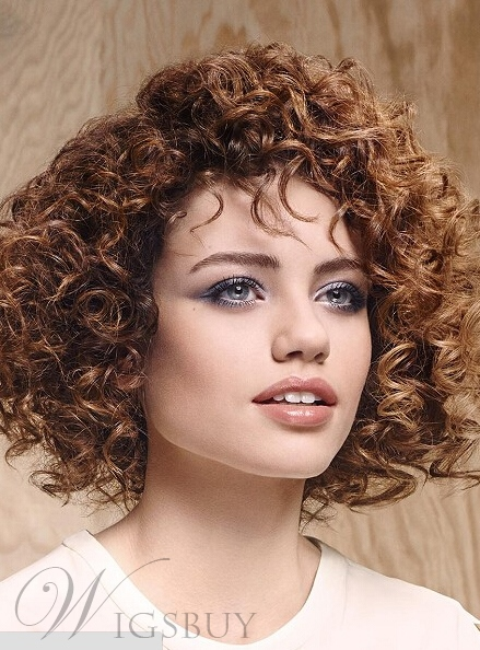 New Arrival Stylish Short Curly 100% Human Hair Full Lace Wigs 12 Inches