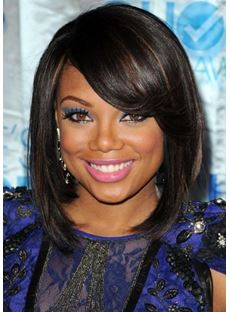 Amazing and Smart Short Bob Hairstyle with Side Bang Synthetic Wigs