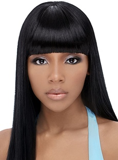 Elegant Charming Middle Straight Capless Human Hair Wigs 16 inches