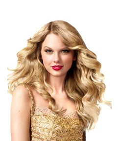 Taylor Swift Long Deep Wave Lace Front Human Hair Wigs 20 Inches