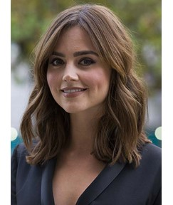Jenna Coleman Long Loose Wave Lace Front Human Hair Wigs 14 Inches