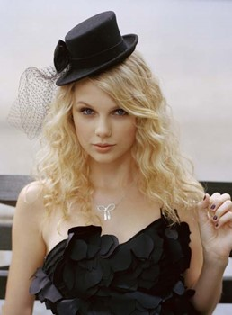 Long Curly Taylor Swift Hairstyle Lace Front Human Hair Wigs 16 Inches