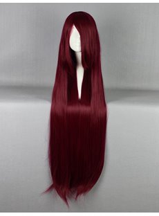 New Arrival Long Straight Dark Red Cosplay Wig 30 Inches