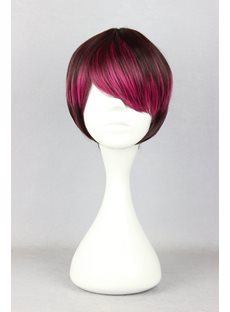 Japanese Lolita Style Gradient Color Cosplay Wigs 12 Inches