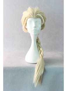 Princess Elsa Hairstyle Long Braided Cosplay Wig 24 Inches