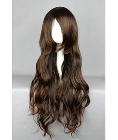 Kana Hairstyle Long Curly Dark Brown Cosplay Wig 22 Inches