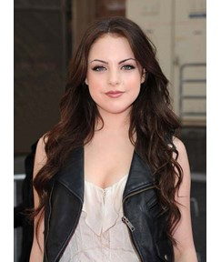 Elizabeth Gillies Long Layered Deep Wave Lace Front Human Hair Wigs 22 Inches