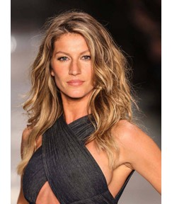 Gisele Bundchen Long Natural Wave Lace Front Human Hair Wig 14 Inches