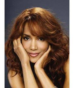 Graceful Long Curly Halle Berry Hairstyle 100% Human Hair Wig 16 Inches