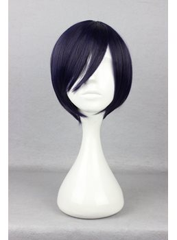New Arrival Short Straight Mixed Purple Cosplay Wig 10 Inches