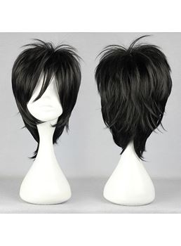 Shiki Hairstyle Short Layered Black Cosplay Wig 12 Inches