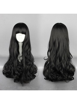 Blake Belladonna Hairstyle Long Curly Black Cosplay Wig 28 Inches