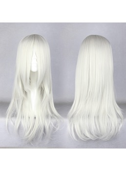 Japanese Sephiroth Style Long Straight White Cosplay Wigs 22 Inches