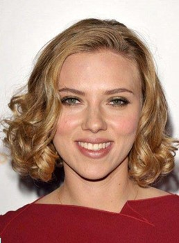 Scarlett Johansson Medium Curly Lace Front Human Hair Wigs 12 Inches