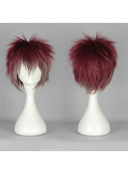 Diabolik Lovers Burgundy with Gray Ombre Synthetic Hair Cosplay Wig