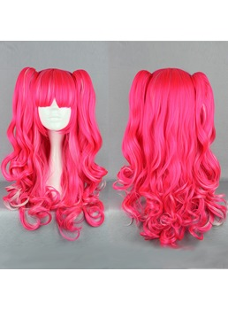 Japanese Lolita Style Pink Color Cosplay Wigs 28 Inches