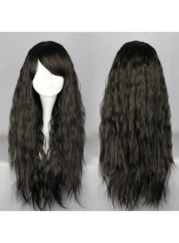 Japanese Lolita Style Long Wave Black Cosplay Wigs 28 Inches